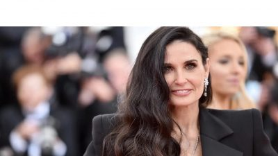 Demi Moore Stuns on Runway