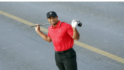 Golfing sensation, Tiger Woods in single car, high speed crash