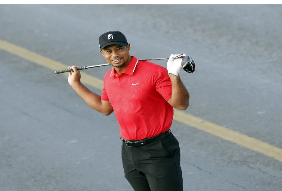 Golfing sensation, Tiger Woods in single car, high speed crash