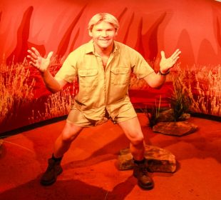 The late Steve Irwin's granddaughter makes new animal friends at Australia Zoo
