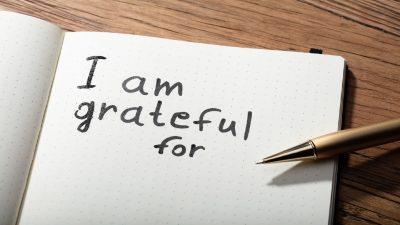 Start being grateful today